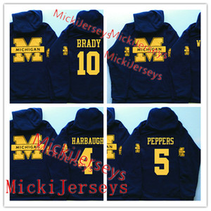 Hombres Michigan Wolverines Tom Brady Hoodie Charles Woodson Jabrill Peppers Desmond Howard Jim Harbaugh Michigan Wolverines Hoodie
