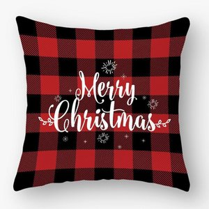 45*45cm Christmas Snowflake Pillowcase New Year Decor Santa Cushion Covers Home Sofa Pillow Case Xmas Pillow Cover Party