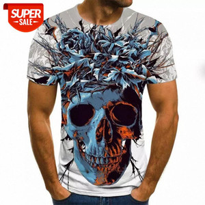Men clothes 2020 New Mens Summer Skull Print Men Short Sleeve T-shirt 3D print t Shirt Casual Breathable funny t shirts #0X9G
