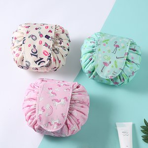 Cosmetic Bag Drawstring Makeup Case Women Travel New Make Up Organizer Storage Pouch Toiletry Wash Kit