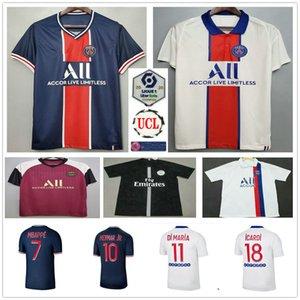 2020 2021 파리 축구 유니폼 MBappe 디 마리아 아이카 디시 Verratti Neymar JR 사용자 정의 20 21 홈 멀리 제 3 남자 여자 아이 축구 셔츠