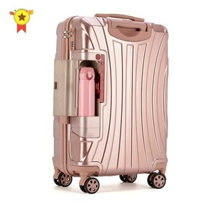 "PC Rolling Suitcase with Cup holder,Travel Luggage Bag ,Universal wheel trip Trolley Case,20""22""24""26""28"" inch High quality Box LJ200928"