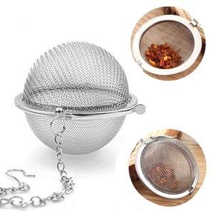 Stainless Steel Tea Pot Infuser Sphere malha coador de chá Filler esfera do filtro Bola 4CM 4.3cm 5cm Tea Filtros OOA9746