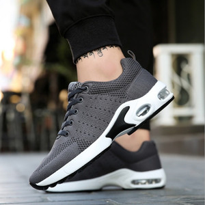 Drop shipping hot sale cool pattern4 Blue Black white gray grizzle Men women cushion Running Shoes Trainers Sports Designer Sneakers 35-45