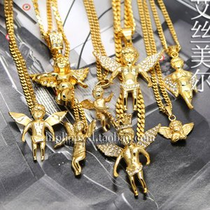 Angel Child Doll Couple Necklace Korean Star Exquisite Small Angel Baby Charm