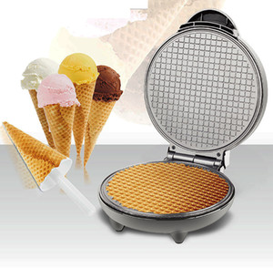 FreeShipping Electric Egg Roll Maker Crispy Omelet Mold Crepe Baking Pan Pancake Bakeware DIY Ice Cream Cone Machine Pie Frying Grill