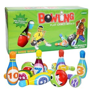 1 Set Bowling Pins And Balls Fun Safe PU Educational Toy For Kids Toddlers Children Outdoor Or Indoor Toy Sports#ooo