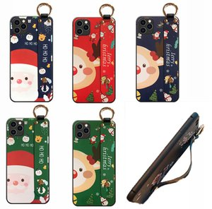 TPU Soft phone case Wristband Christmas Cartoon Phone covers phone holder protect Case for 11 12PRO XR XSMax Samsung Xiaomi Huawei P30 40Pro