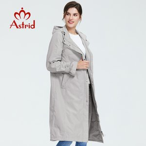 Astrid women trench coat big size spring fashion long windbreaker solid color Windproof temperament women coat AS-6325 201016