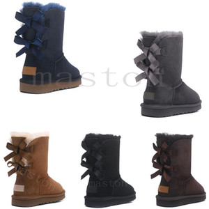 2020 Australie WGG Bottes australiennes Femmes Boot Snow Winter Slipper Botas Australianas Fourrure Boot New D9V6 #