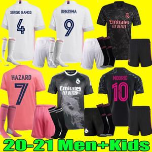 Homens crianças 20 21 Real Madrid camisa PERIGO DE SERGIO RAMOS BENZEMA futebol Camiseta de futbol 20 da camisa 21 raça VINICIUS JR Humano futebol