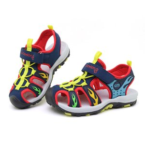 Çocuk Plaj Sandalet İçin Yaz Boys Deri Ayakkabı infantil ULKNN Kapalı Burun Nefes Mesh Çocuk sandalia