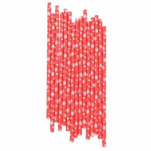 25Pcs Xmas Snowflake Drink Paper Straws Kids Birthday Wedding Christmas Festival Event Decor Straws Party Supplies oldf#