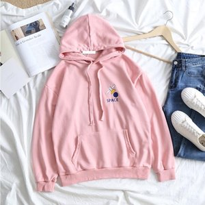 Cute Letter Pattern Embroidered Hooded Sweatshirt1