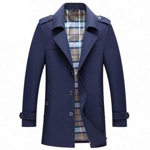 Mens Trench Coats Männliche Blazer Designs Slim Fit Business Casual Anzug Jacke V-Ausschnitt dünne Frühling Herbstgrabenjacken Windjacke