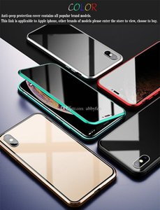 Magnetic Privacy Metal Case For Iphone 12 11 Pro Max Xs Max Xr X 7 8 6s Tempered Glass Built qylqXA infant2005