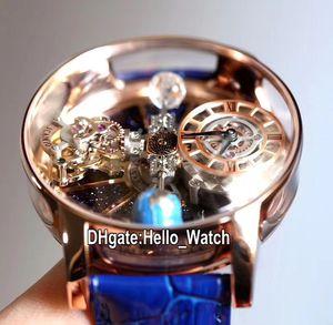 V2 Статическая версия Epic x Chrono CR7 Астрономический турбийон скелет авантрин циферблат швейцарские кварцевые мужские часы стальные розовое золото hello_watch a02