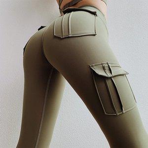 Ogilvy & Mather atractivo empuja hacia arriba Mujeres bolsillos de cintura alta gótica polainas transpirable de poliéster Punk Legging de fitness