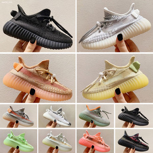 Yeezy 350 V2 Enfants Chaussures enfants Chaussures de basket-loup gris pour enfant en bas âge Sport Chaussures de sport Garçon Fille Toddler Chaussures Pour Enfant