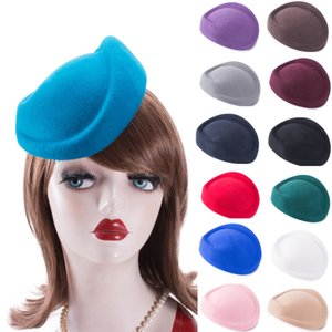 Womens Dress Fascinators 100% Wool Felt Pillbox Hat Base Party Wedding Craft Head Pieces Hair Accessories A129 201009