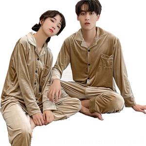 QHCG Silk Longue costumes Femme Mens Couple Ensemble imprimé Vapelle d'automne Pajamas solide Pajamas Chinese Dragon Impression Pyjamas Printemps Flower Sortwea