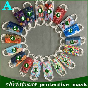 2020 Adult fashion printing mask retail package  Christmas Halloween Disposable  Face Masks Non-Woven Anti-Dust top quality