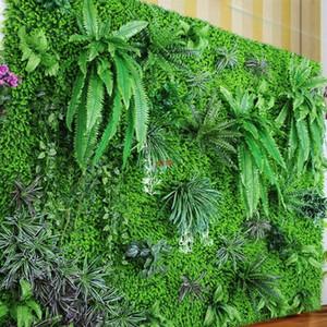 Flower Wall Hanging Plants Artificial Greenery Fern Grass Bouquet Plastic Leaves Silk Hedge