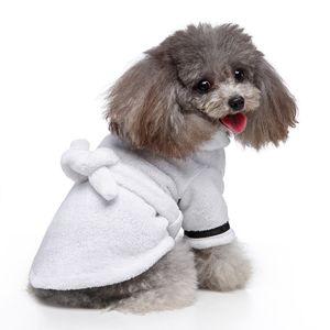 Haustier Hund Bathrob Dog Pyjamas Sleeping Kleidung weiches Haustier-Bad Trockentuch Kleidung für die für Welpen Hunde Katzen Tierzubehör