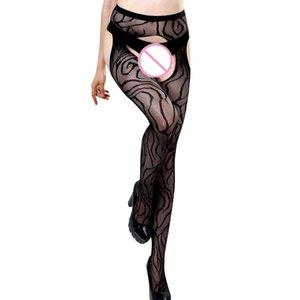 Bayan Lingerie Net Dantel Kemer Uyluk Çorap Külotlu Çorap Intimates Çorap Seti Açık Kasık Seksi Garter 51 *