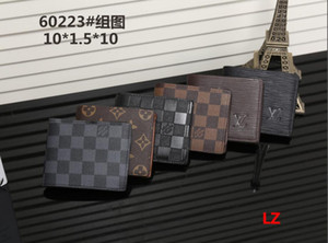 2020 hot sale men designer wallet luxury fold wallet good quality leather purses sir Card package