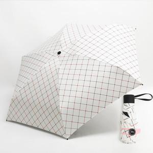 Mini Pocket Umbrella Femmes Super Light Creative 5fold Manuel Pocket style britannique parapluie pluie soleil femmes enfants Paraguas bbyEzA hotstore2010