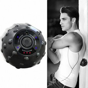 New 4 Speed High Intensity Vibrating Massage Ball for Fitness Yoga Muscle Relief Treatment LMH66 q3Rm#