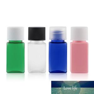 50pcs 10ml carré de maquillage vide bouteille d'hôtel Shampooing Lotion Plastique Bouteilles Définir des soins personnels Emballage de soins personnels