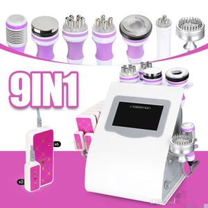 Salon SPA Использование 9 в 1 Овитация Unoisition Cavitation Patuum Vacuum RF Laser Bio Фотон Машина ухода за лицом
