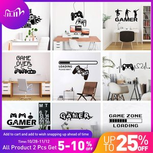 2020 New Gamer Wall Sticker For Game Room Decor Kids Room Decoration Bedroom Decor Door Vinyl Stickers Mural Gaming Poster