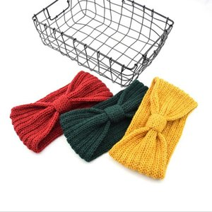 28 colors Knitted Crochet Headband Women Winter Sports Hairband Turban Yoga Head Band Ear Muffs Cap Headbands YYA550