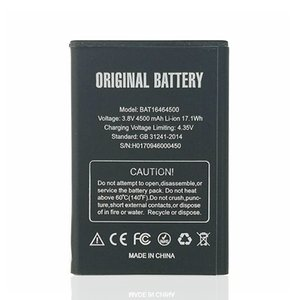 4500mAh   17.1Wh BAT16464500 Smart Cell Phone Replacement Battery + Universal Charger For DOOGEE T5 Lite