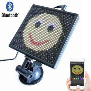 12v P4 32x32 RGB Bluetooth car LED Display Board Rear Window Programmable GIF smile LED On-board Screen face led sign Light