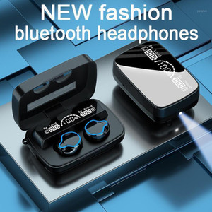 Wireless earbuds tws earbuds Waterproof Bluetooth earphone 5.0 auriculares bluetooth Mic Sports New fashion earphone touch LED1