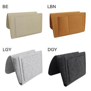 Felt Bedside Storage Pocket Hanging Organizer Bag Phone Holder Remote for Home Bed Rails Sofa Beds