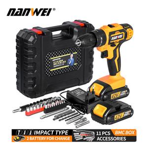 Destornillador inalámbrico Impacto Herramientas eléctricas Hammer Electric Drill Hand C1220