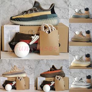 Tamaño 13  Oreo lino reflectante 3M Kanye West zapatos corrientes de azufre Desert Sage Cinder Zyon Hombres Mujeres Sport zapatillas de deporte