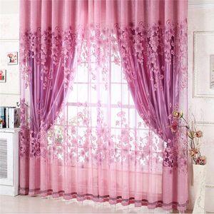 1pcs Purple Luxury Curtain Yarn Curtains Jacquard Living Room Bedroom Decor Tulle Voile Door Living Room
