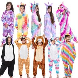 Çocuklar Unicorn Pijama Hayvan Çocuk Hayvan Hayvan Pijama Mermaid Pijama Bebek Onesie Kış Unicorn Onesie Çocuklar için Zebra 201104