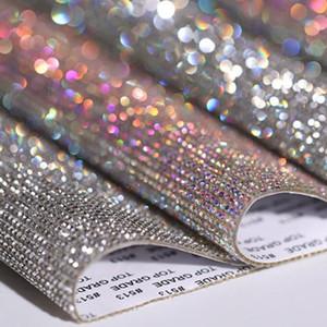 Decoração Folha Rhinestone vidro etiqueta guarnição de cristal Adesivos frisada Applique DIY Car Auto Adesivo Enfeite Tablet