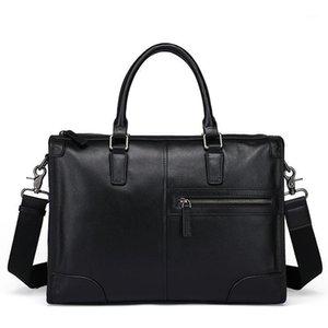 حقيبة جلد الرجال حقيبة جلدية للرجال عبر حقيبة الكمبيوتر حقيبة جلدية كاملة