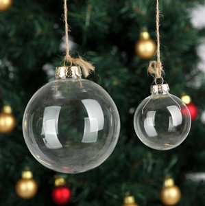 50 Pcs Wedding Bauble Ornaments Christmas Xmas Glass Balls Decoration 80mm Christmas Balls Clear Glass Wedding balls 3