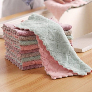 Microfiber Absorbent Kitchen Dish Cloth Towel,Non-stick Oil Washing Cloth Rag,Household Tableware Cleaning Wiping Tools
