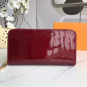 Hot High Quality Design purse Pochette Voyage zipper purse Coin Purse Double Hasp Wallet Fold Card Holder Passport Holder Key Pouch with box