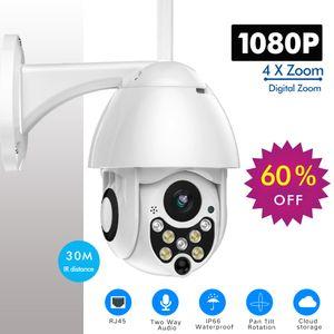 Sdeter 1080P PTZ IP Camera Velocidade Ao Ar Livre Domo Sem Fio Wi-Fi Security Câmera Pan Tilt 4x Zoom IR Rede IR Vigilância CCTV 720P